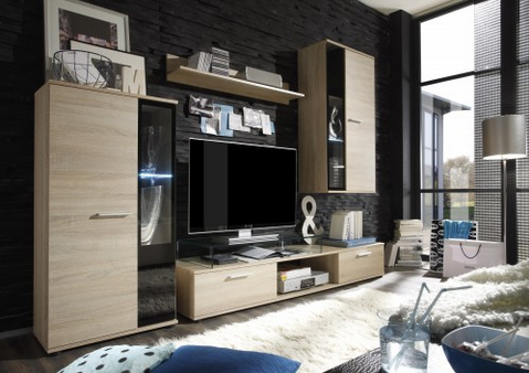 Wohnwände vereinen Stauraum und Design