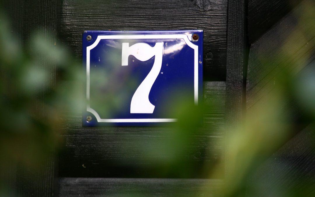 Die Gestaltung von Hausnummern